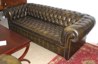 Chesterfield sofa gebraucht  Englische Stilmöbel, Chesterfield Ledergarnituren & Antiquitäten ...